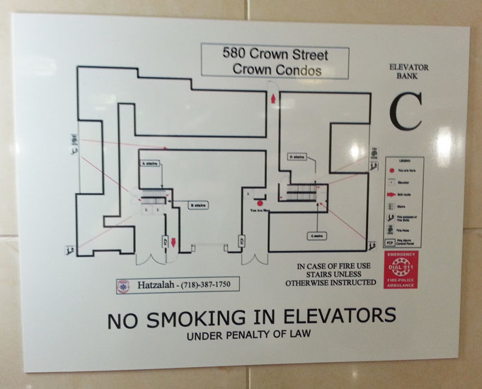 Evacuation Floor Plan signs